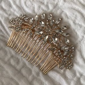 Accessories - Gold and crystal hair accessory. Wedding!